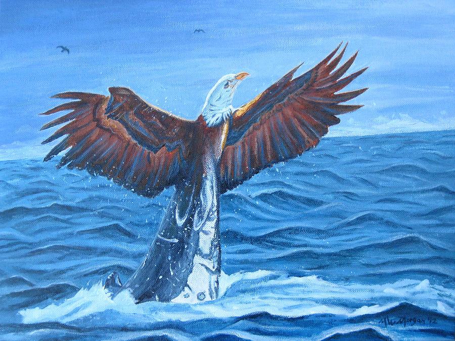 Eagle Painting - Reincarnation by Michael Morgan