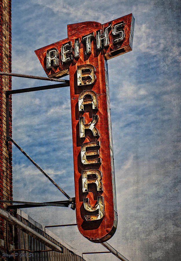 Signs Photograph - Reiths by Wayne Gill