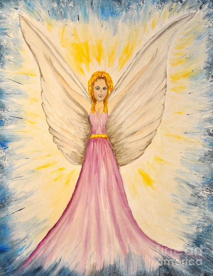 Rejoicing Painting - Rejoicing Angel by Sally Rice