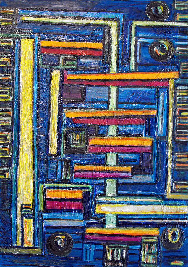 Building Blocks Painting - Relations II. by Agnes Roman