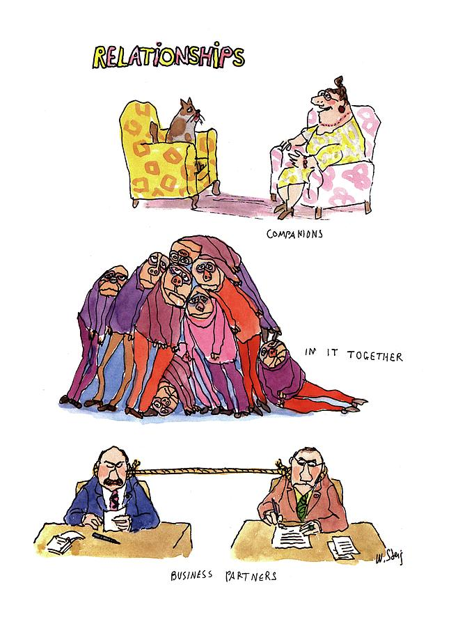 Relationships Drawing by William Steig