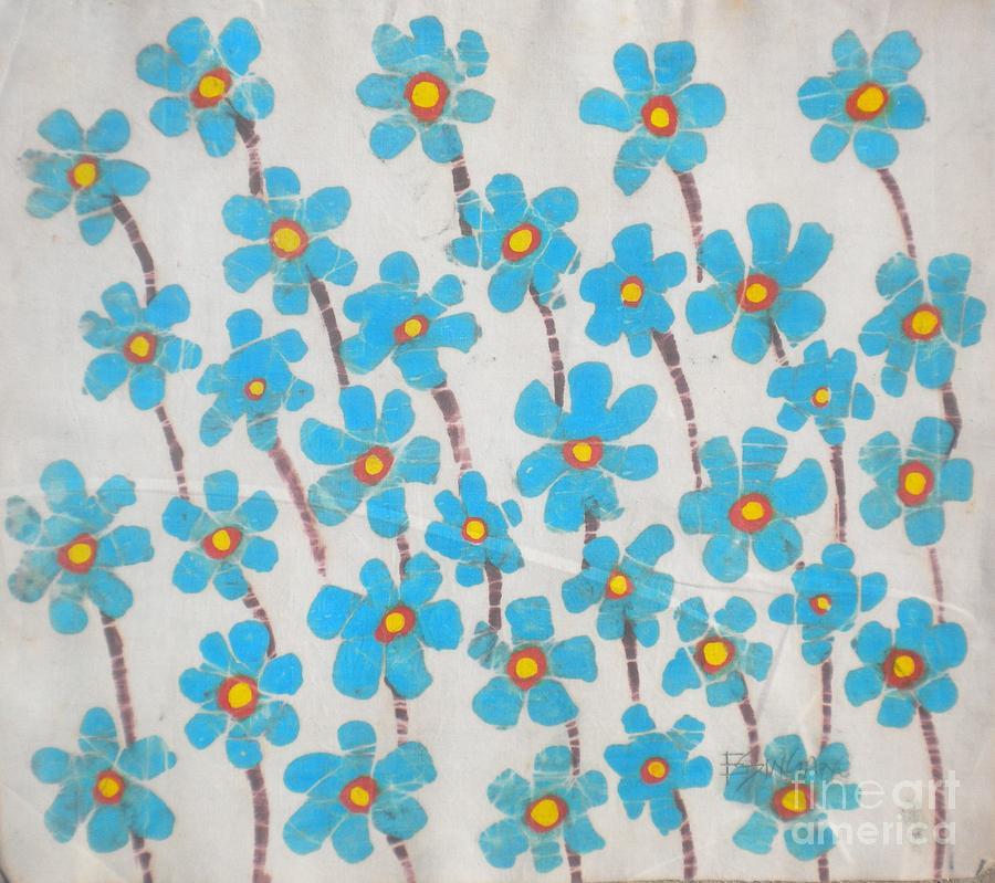 African Painting - Relative Of A Bluebonnet Flower by Ellis Tayamika Singano