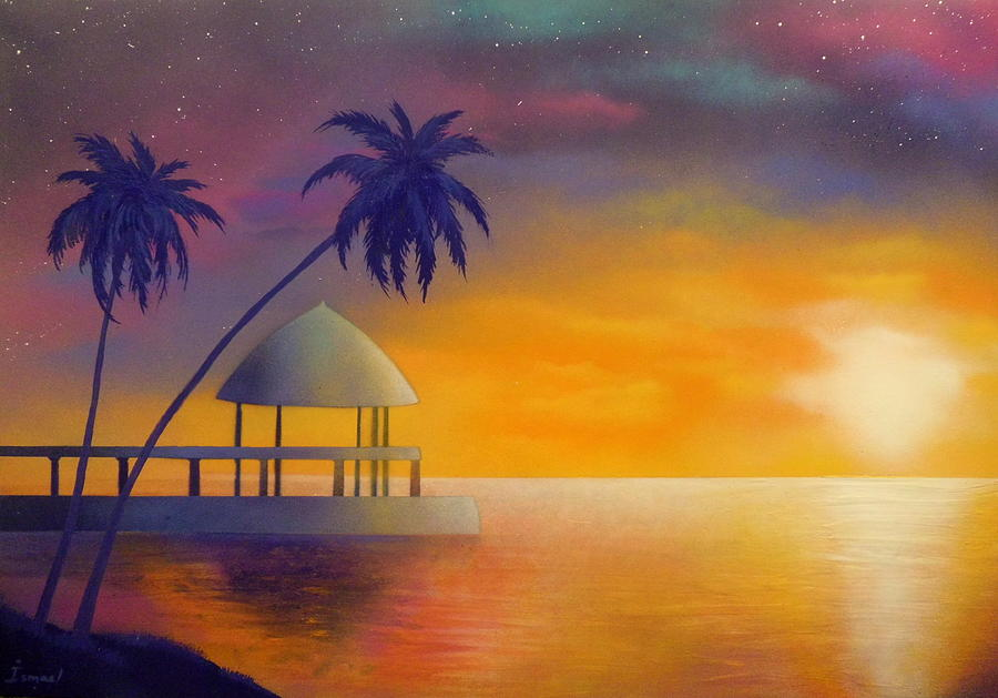 Sunrise Painting - Relax by Ismael Paint