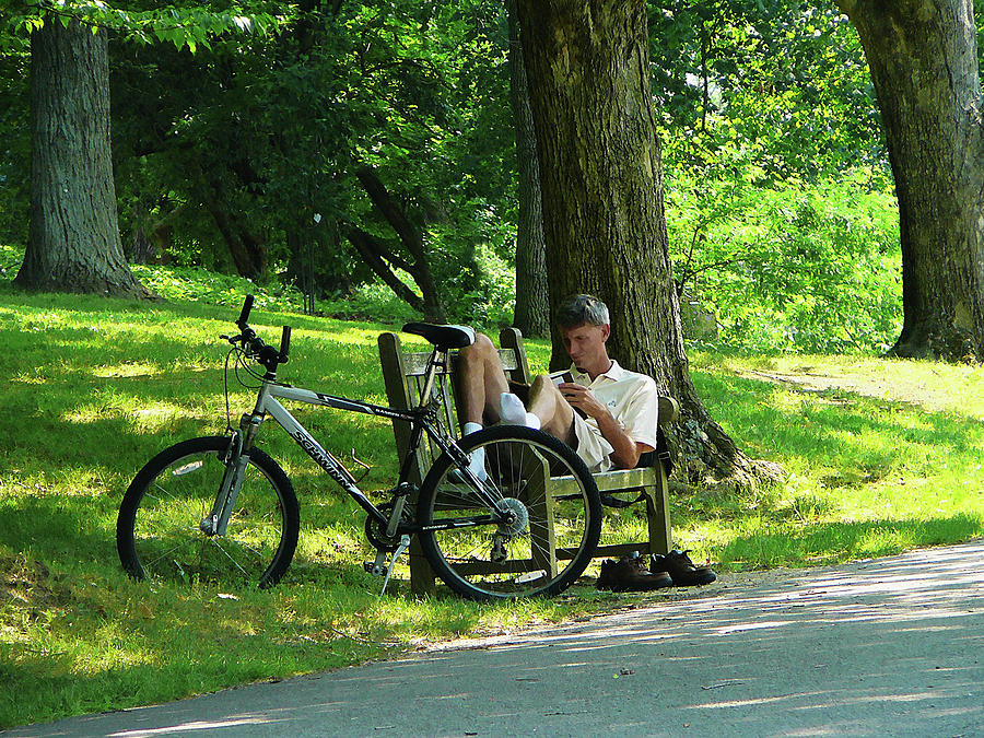 Summer Photograph - Relaxing After The Ride by Susan Savad