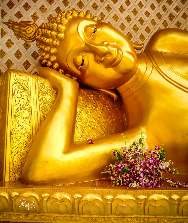 Buddha Photograph - Relaxing Contemplation  by Allan Rufus