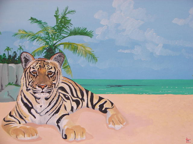 Relaxing On The Beach Painting by David Ellis