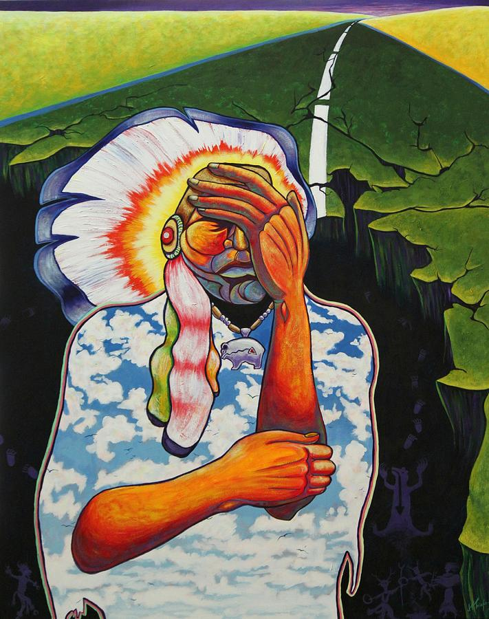 American Indian Painting - Release Me by Joe  Triano