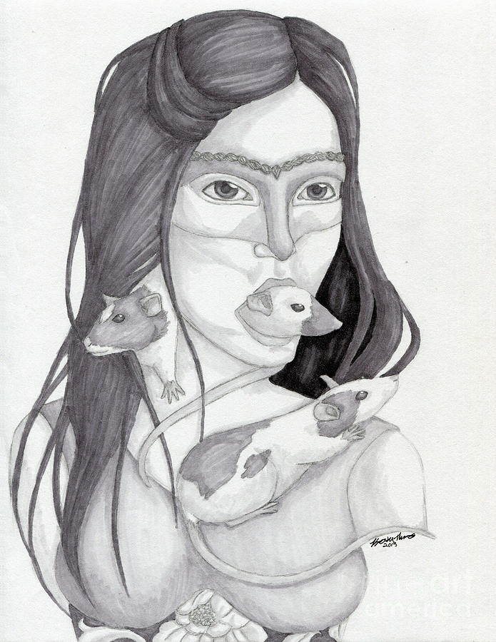 Self Portrait Drawing - Release The Inner Spirit by Kirsten Thomas