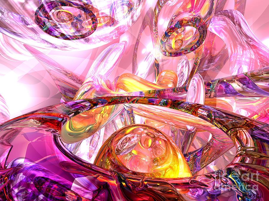 3d Digital Art - Released Happiness by Alexander Butler