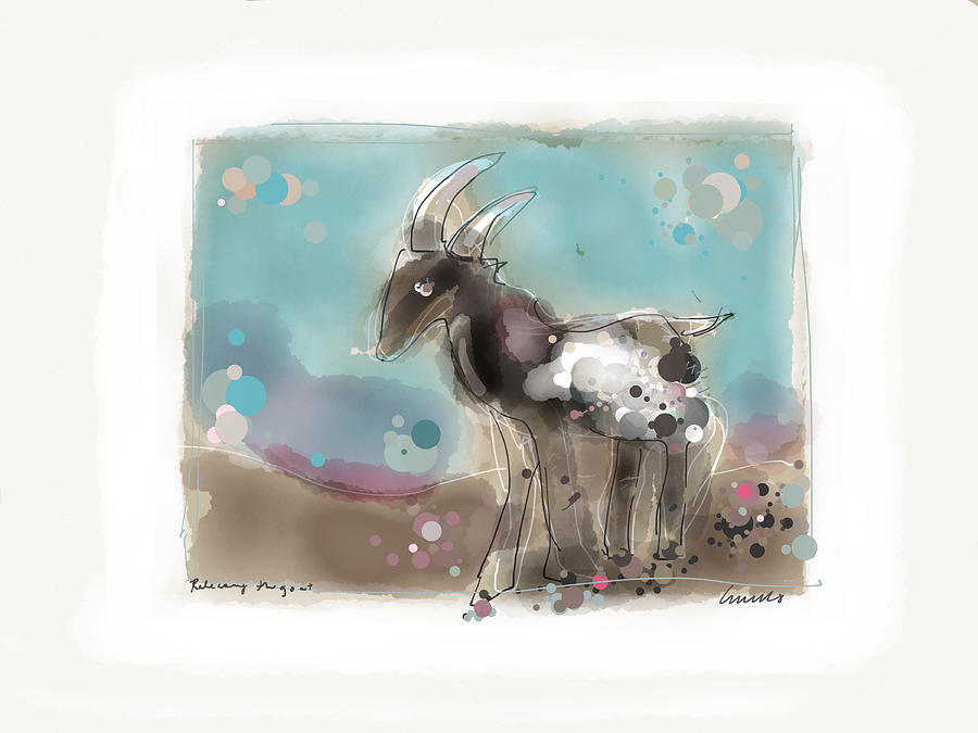 Animal Painting - Releasing The Goat by Peter Ciccariello