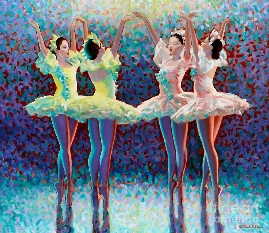 Dancers Painting - Releve by Kevin Lawrence Leveque