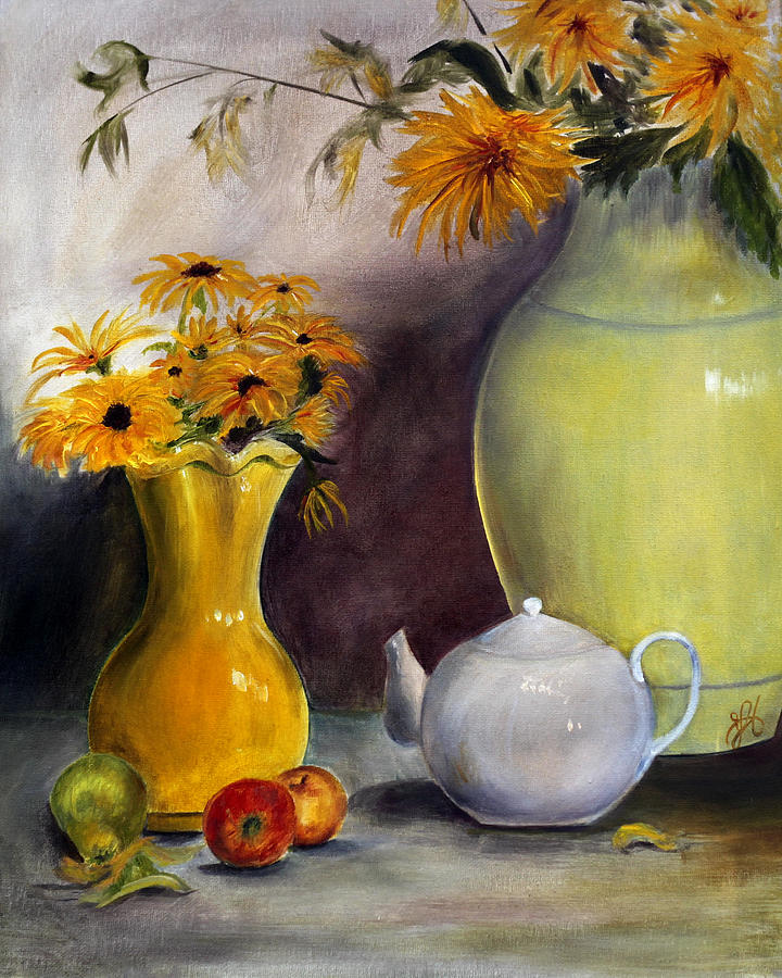 Yellows Painting - Reliable Loyalty by Jane Autry