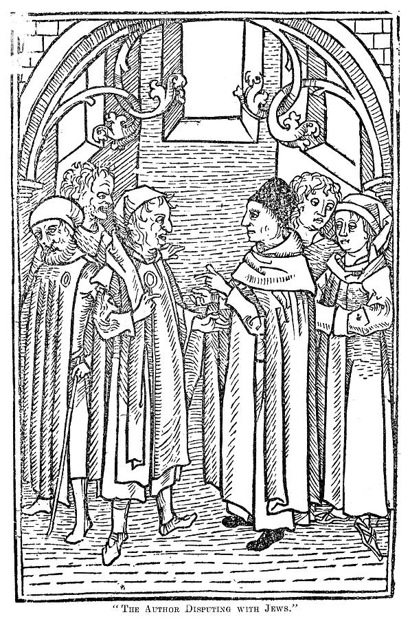 1477 Painting - Religious Argument, 1477 by Granger