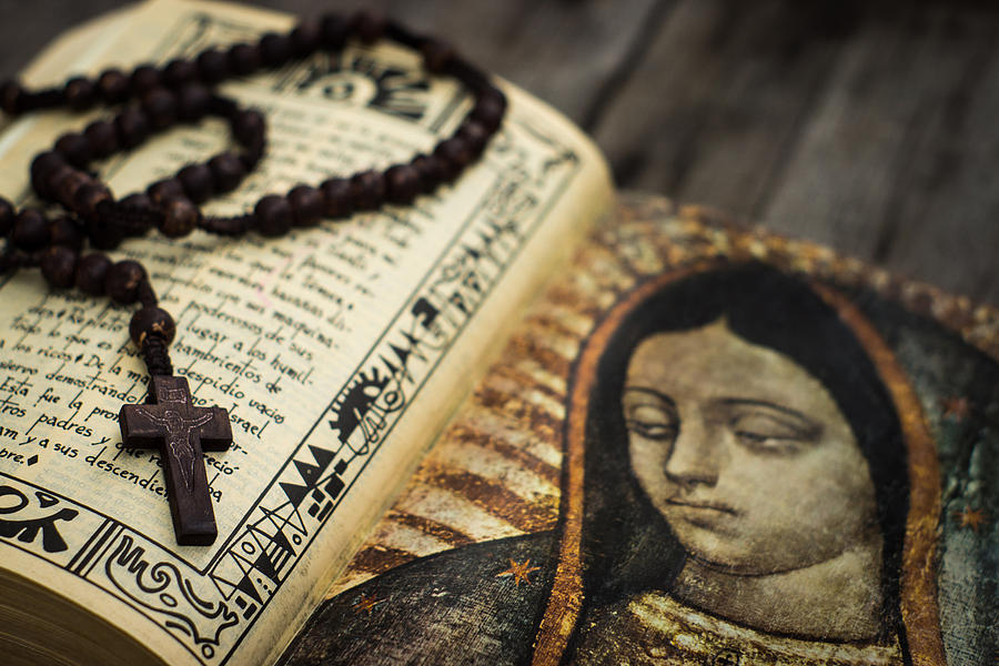 Rosary Photograph - Religious Concept by Aged Pixel