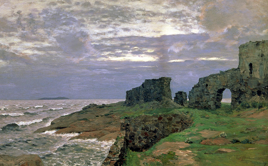 Twilight Painting - Remains Of Bygone Days by Isaak Ilyich Levitan