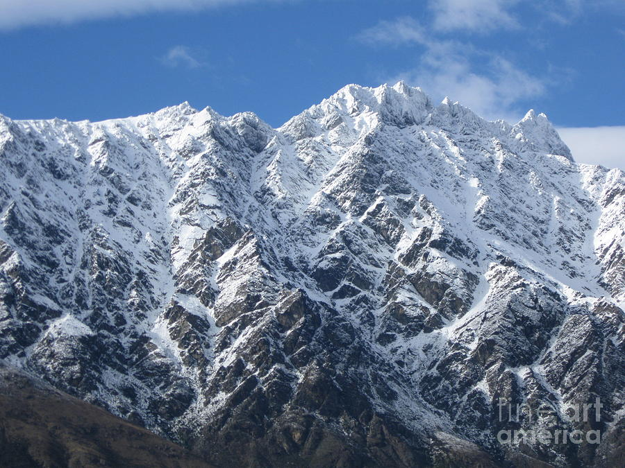 New Zealand Photograph - Remarkables Mountains  by  Lines
