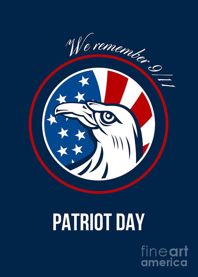 Remember Digital Art - Remember 911 Patriots Day Poster by Aloysius Patrimonio