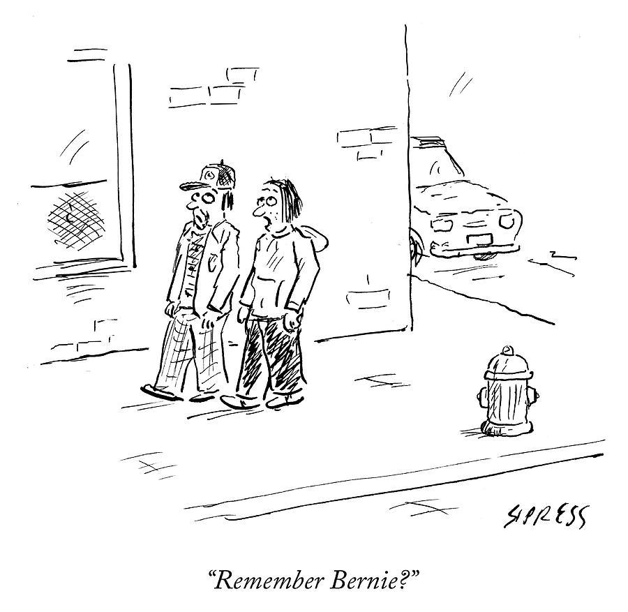 Cartoon Drawing - Remember Bernie by David Sipress