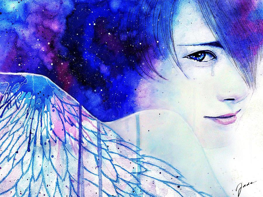 Angel Painting - Remember Me by Elisabeth Vania
