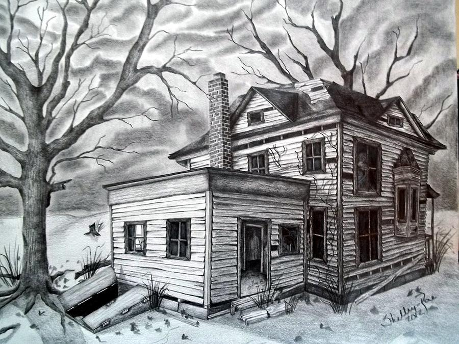 House Drawing - Remember Me by Shelby Edelman