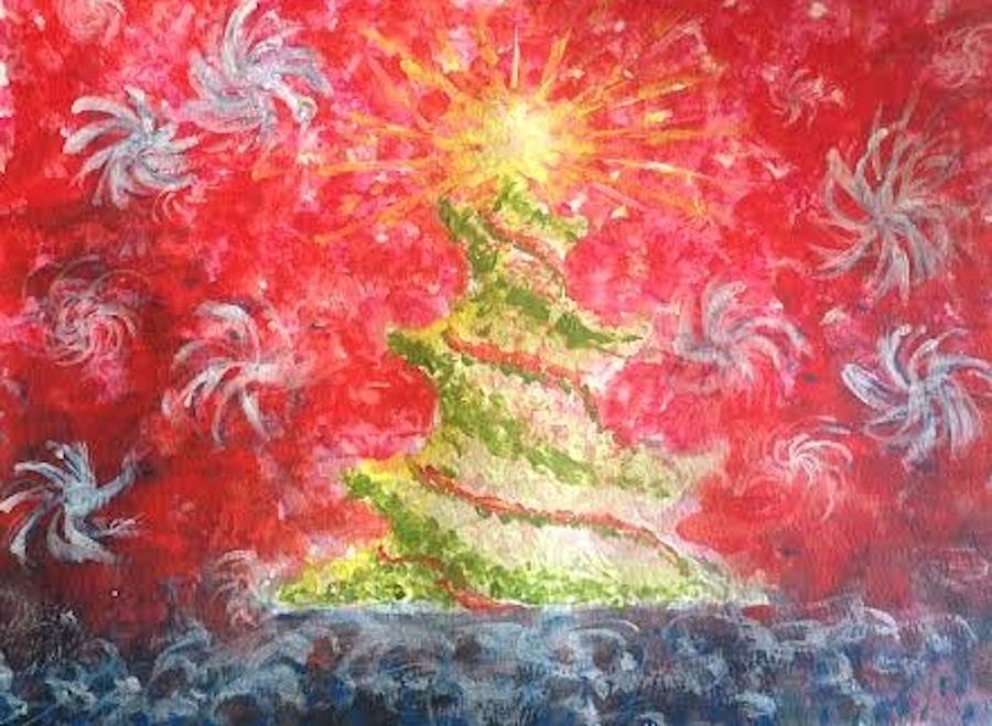 Christmas Painting - Remember The Light by Eloisa Bevilacqua