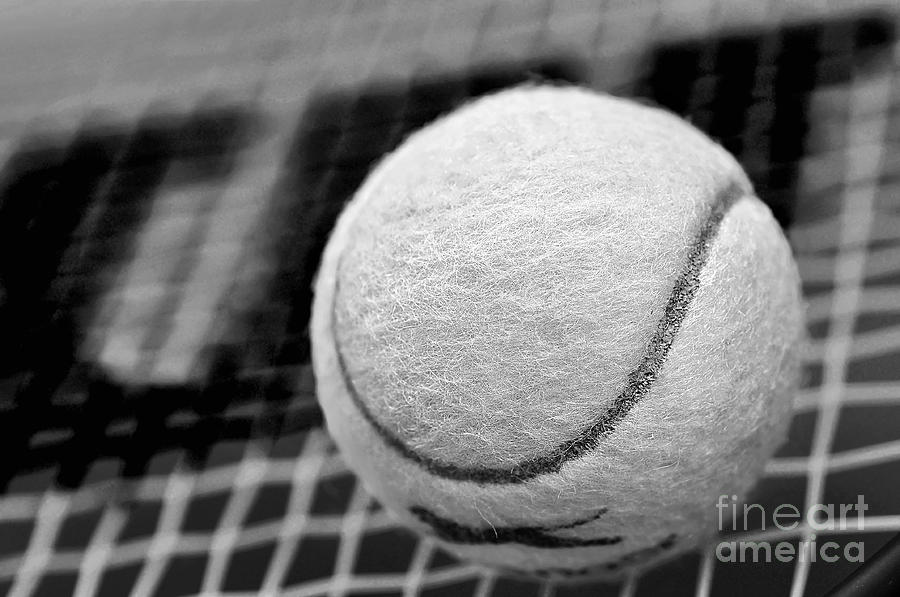 Ball Photograph - Remember The White Tennis Ball by Kaye Menner
