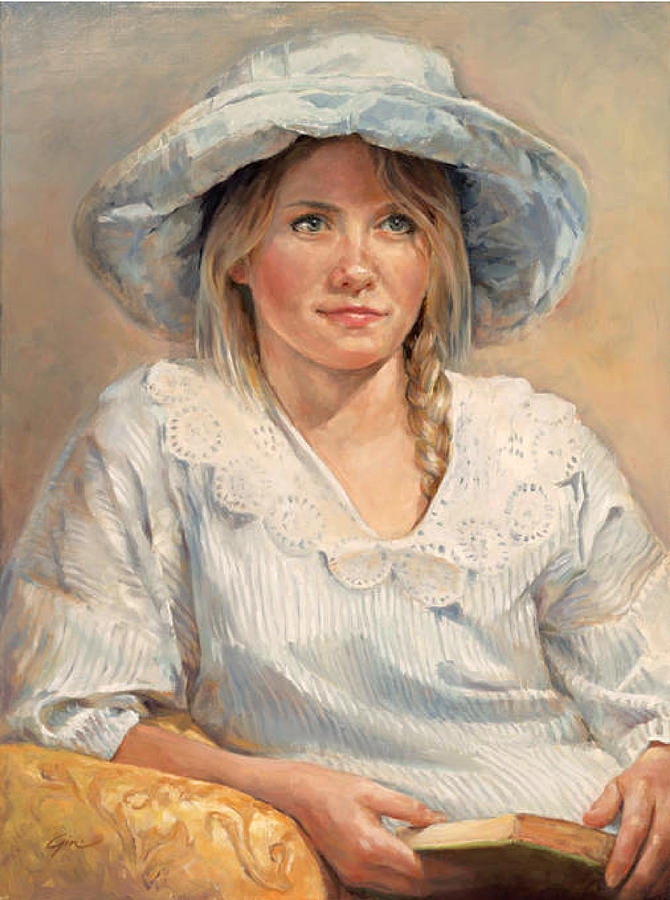 Girl Painting - Remembering by Gini Heywood