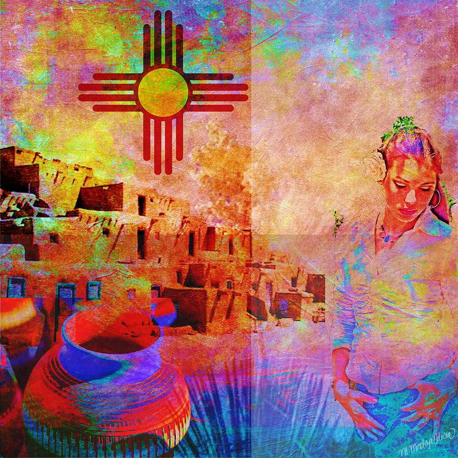 New Mexico Digital Art - Remembering New Mexico by M Montoya Alicea