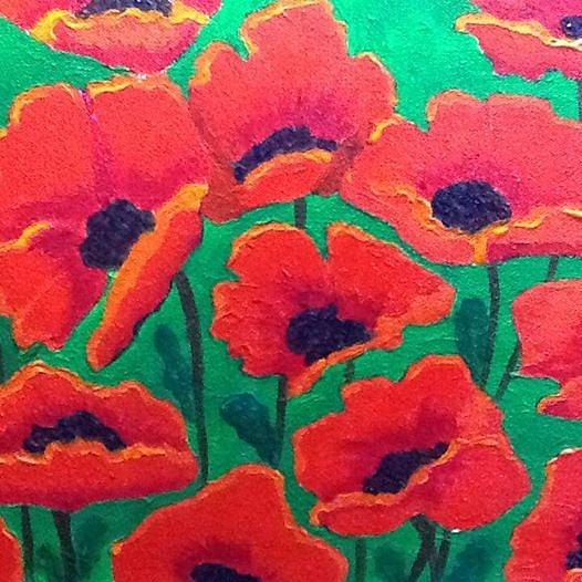 Remembrance Poppy Painting - Remembrance by Donna Bird