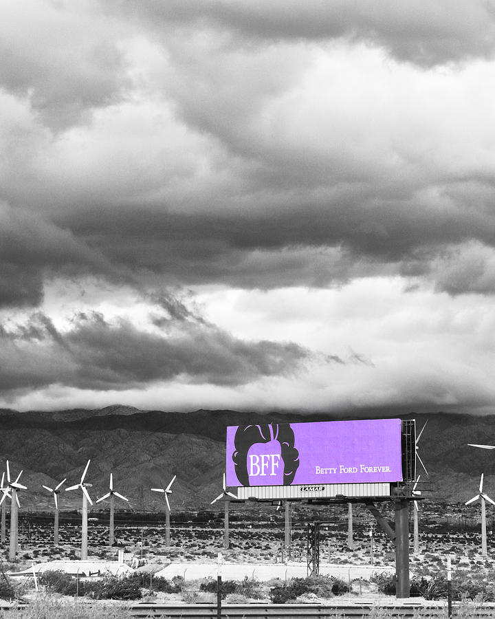Windmills Photograph - Remembrance Palm Springs First Lady Betty Ford by William Dey
