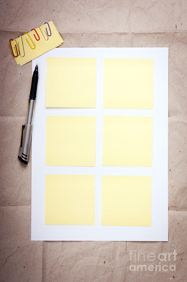 Paper Photograph - Reminder Notes by Tim Hester