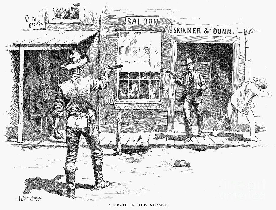 19th Century Photograph - Remington: Duel by Granger