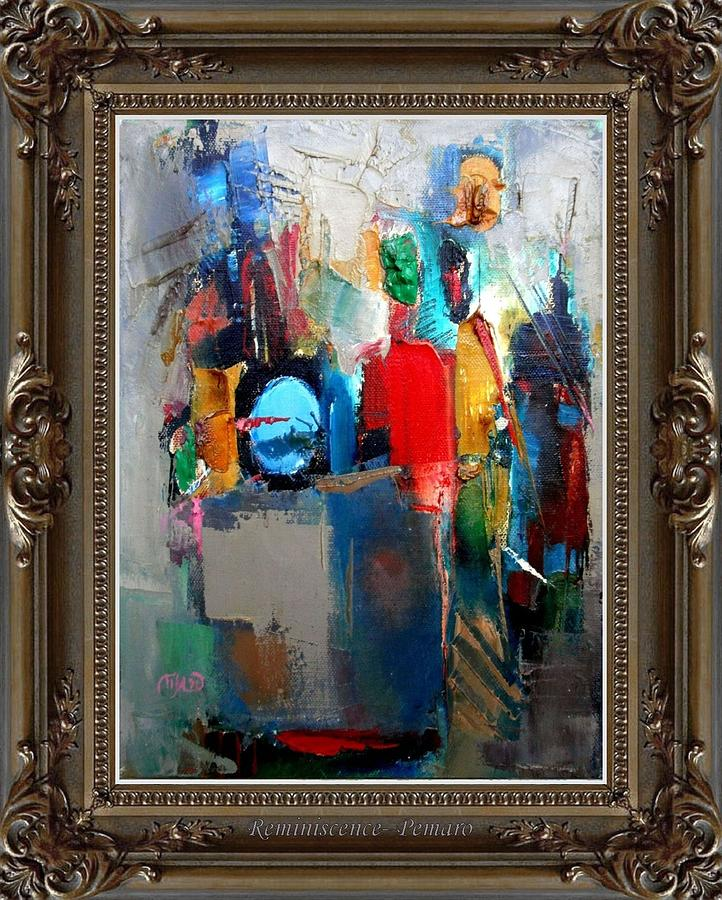 Abstract Painting - Reminiscence by Pemaro
