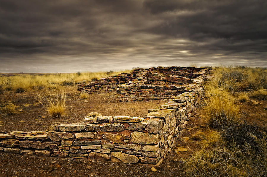 Ruins Photograph - Remnants Of Long Ago by Medicine Tree Studios