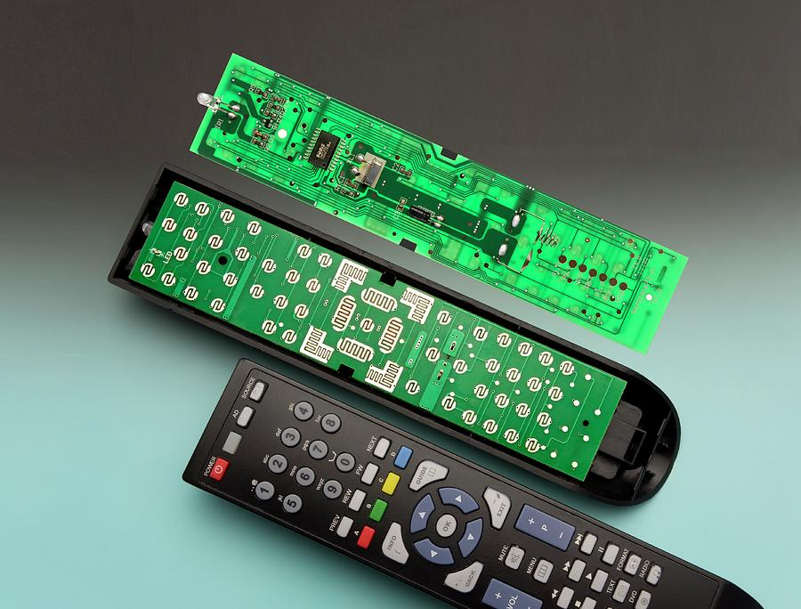 Remote Control Printed Circuit Board Photograph By Sheila