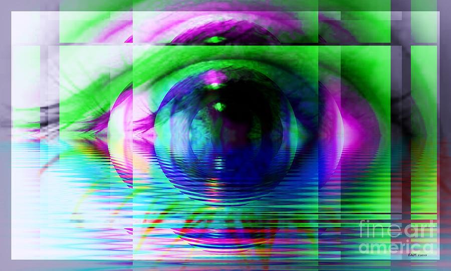 Fractal Art Digital Art - Remote Viewing by Elizabeth McTaggart