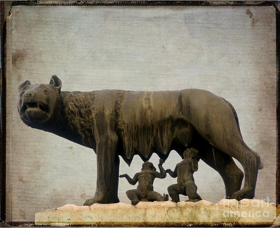 Aged Photograph - Remus And Romulus by Bernard Jaubert