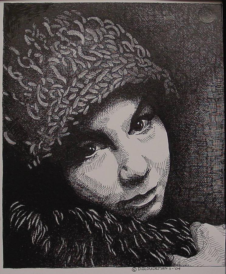 Portraiture Drawing - Rena by Denis Gloudeman