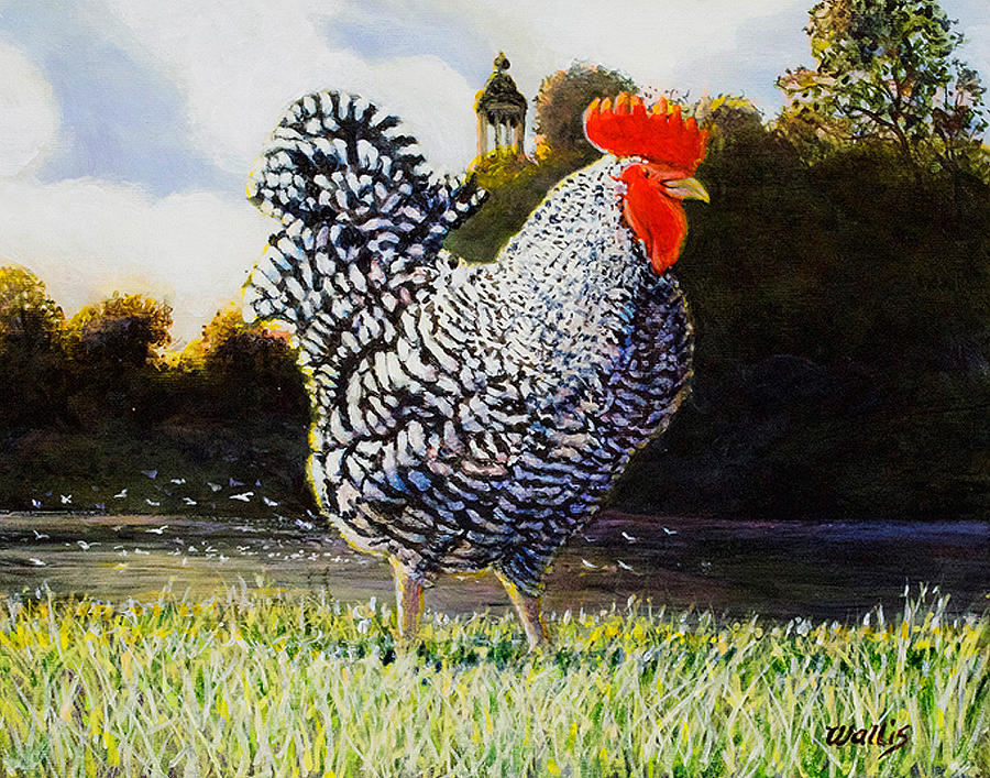 Renasiance Rooster Painting