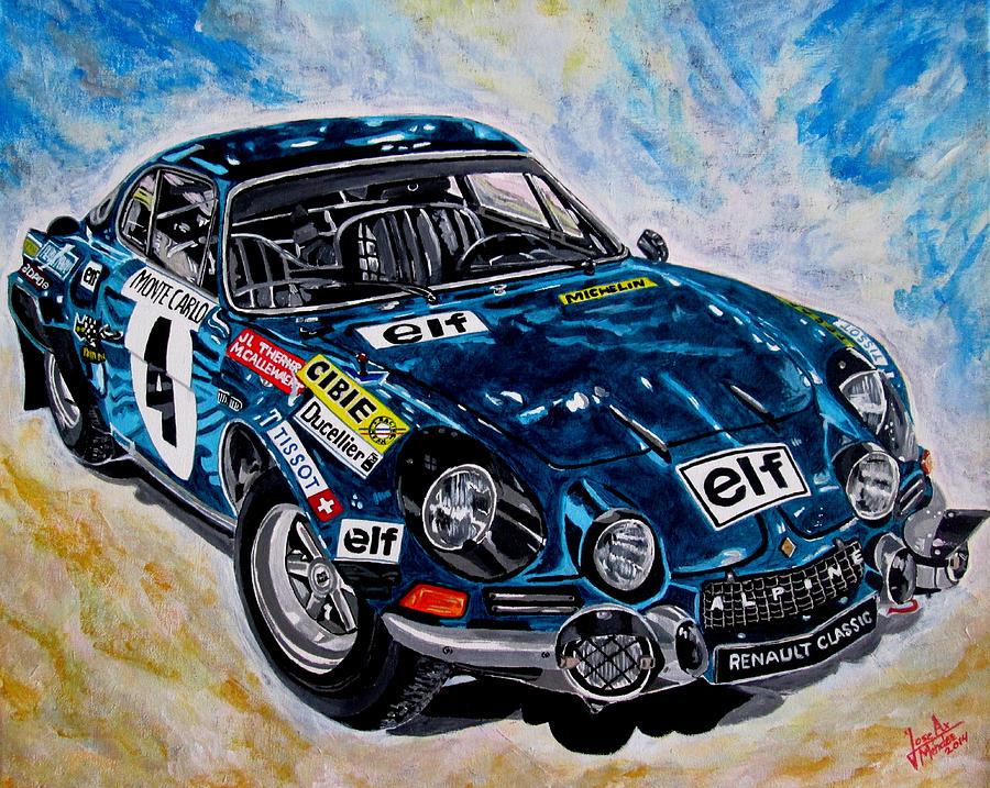 Renault Alpine Painting - Renault Alpine by Jose Mendez