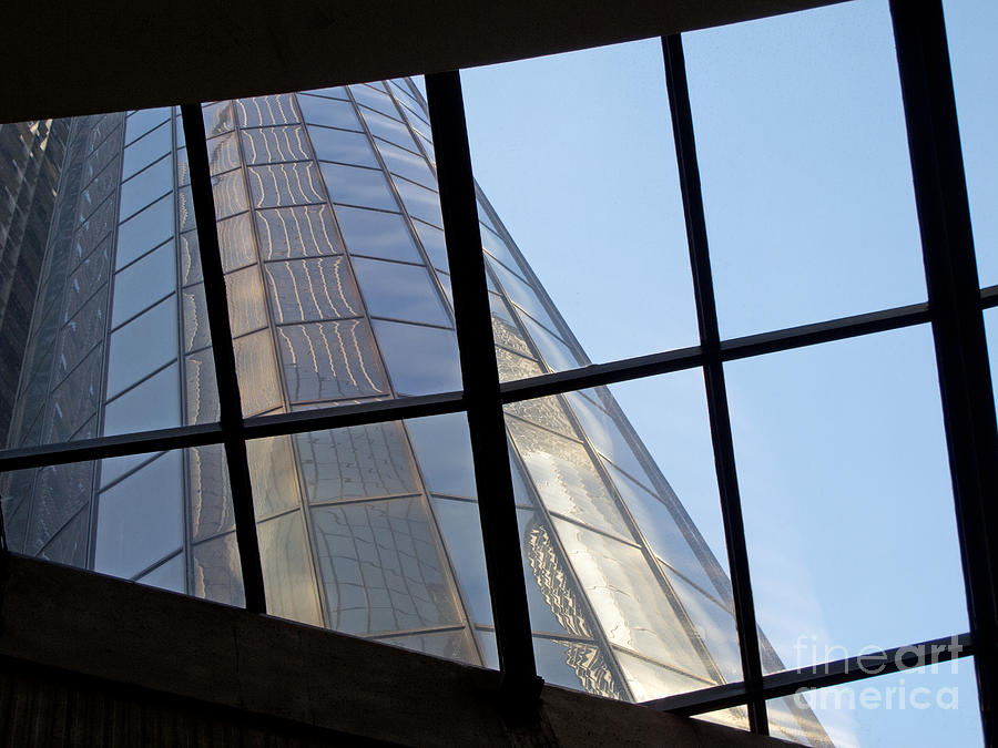 Detroit Photograph - Rencen Skylight by Ann Horn