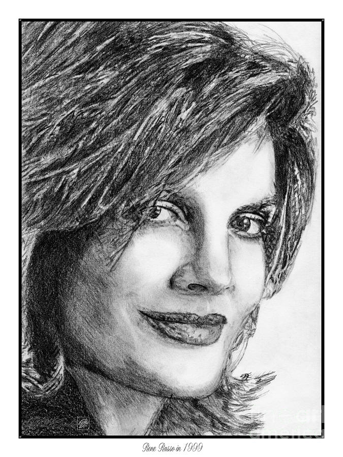 Mccombie Drawing - Rene Russo In 1999 by J McCombie