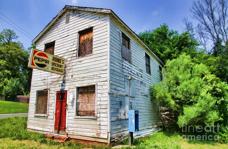 Abandoned Photograph - Renees Discount Beverage Store By Diana Sainz by Diana Sainz