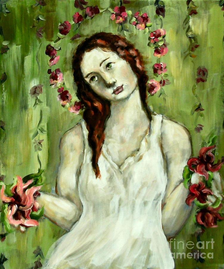 Angel Painting - Renewal by Carrie Joy Byrnes