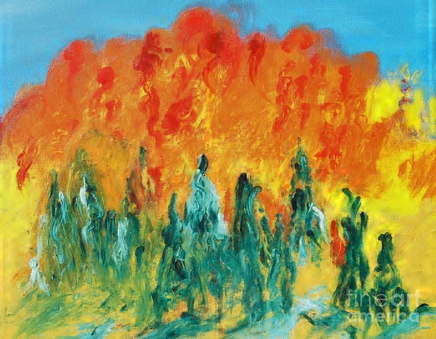 Renaissance Painting - Renewal by Mounir Mounir