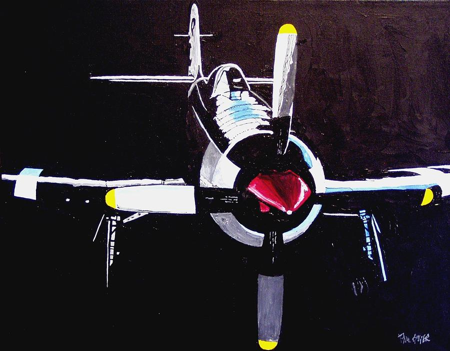 Sacramento Painting - Reno Air Races by Paul Guyer