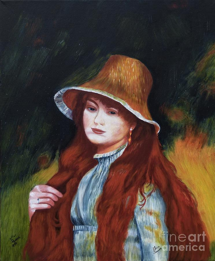 Renoir-Young Girl in a Straw Hat by Alicia Fowler