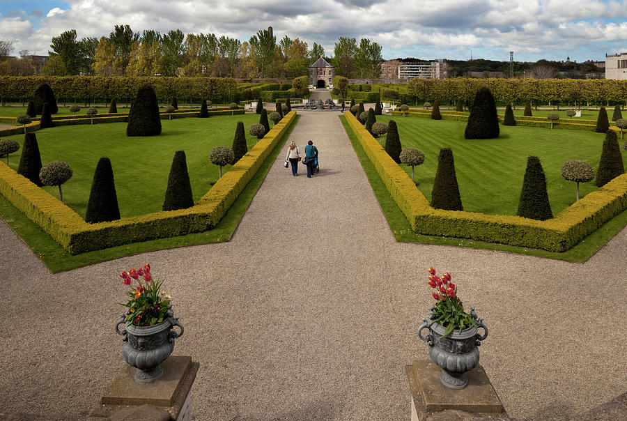 Color Image Photograph - Renovated Formal Gardens At The Museum by Panoramic Images