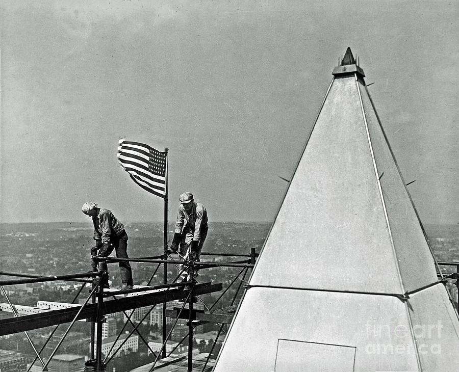 History Photograph - Renovation Of The Washington Monument II by Jost Houk