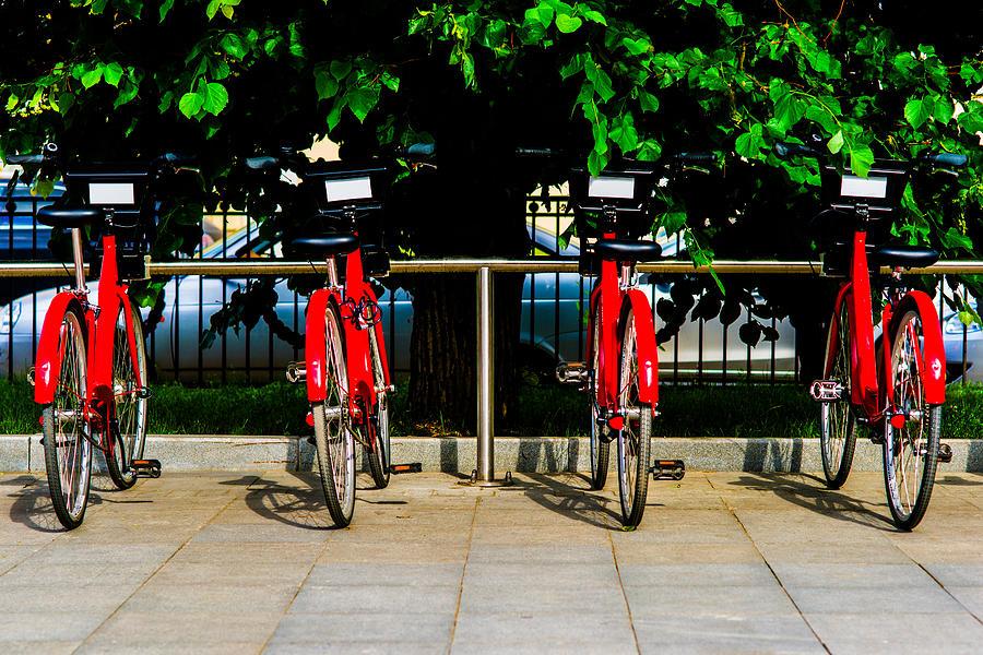 Abstract Photograph - Rent-a-bike - Featured 3 by Alexander Senin